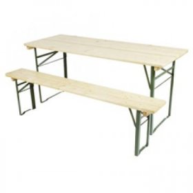 Outdoor Adventure Wooden Table and Bench Set