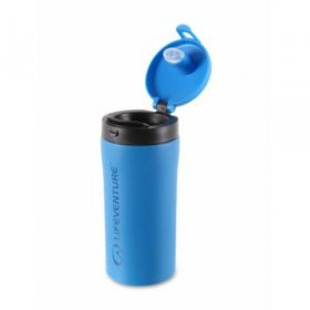 Life Venture Flip Top Thermal Mug - Blue Open