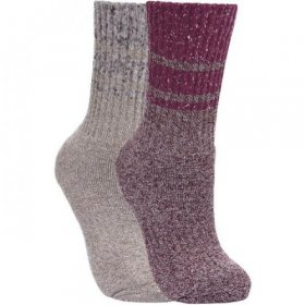 Trespass Womens Hadley 2 Pack Socks