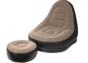 Summit Deluxe Inflatable Lounger with Foot Stool