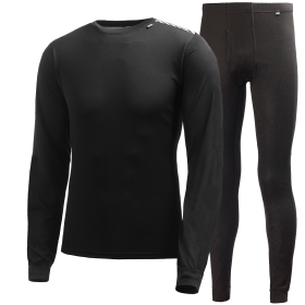 Men's Comfort Light Base Layer Set - Black
