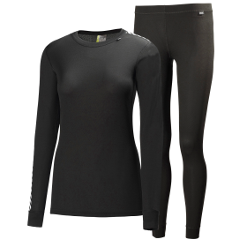Helly Hansen Women's Comfort Light Base Layer Set - Black