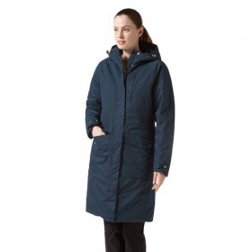 Craghoppers Women's Mhairi Long Jacket Loch Blue - Front