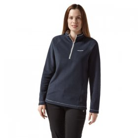 Craghoppers Women's Miska Half Zip Fleece- Blue Navy
