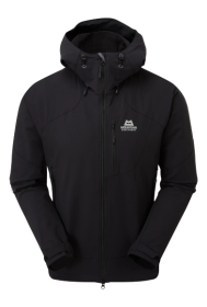 Mens Frontier Hooded Softshell Jacket - Black