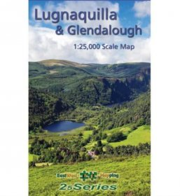 Laminated Lugnaquilla & Glendalough Map