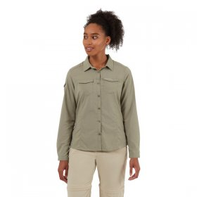 Women's NosiLife Adventure Long Sleeve Shirt - Soft Moss