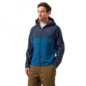 Men's Trent Weatherproof Hooded Jacket - blue navy poseidon